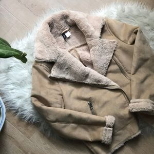 Plush Shearling Fur-lined Jacket/Coat